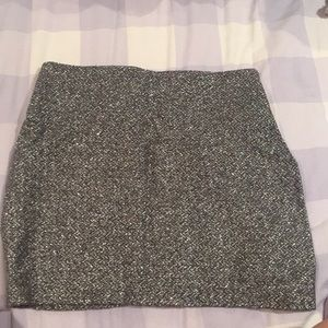 BCBG Silver Sparkle Mini Skirt